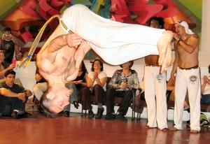 Capoeira, upside down -- at Best of Brazil festival in San Francisco, April 2004