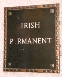 unintentionally ironic sign in Ireland that reads 'Irish P rmanent'