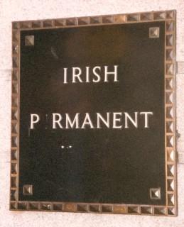 unintentionally ironic sign in Ireland that reads 'Irish P rmanent'
